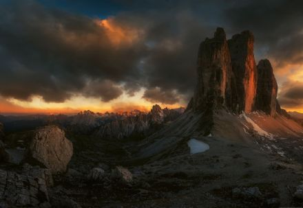 Photo wallpaper Dolomites Mountains in Italy